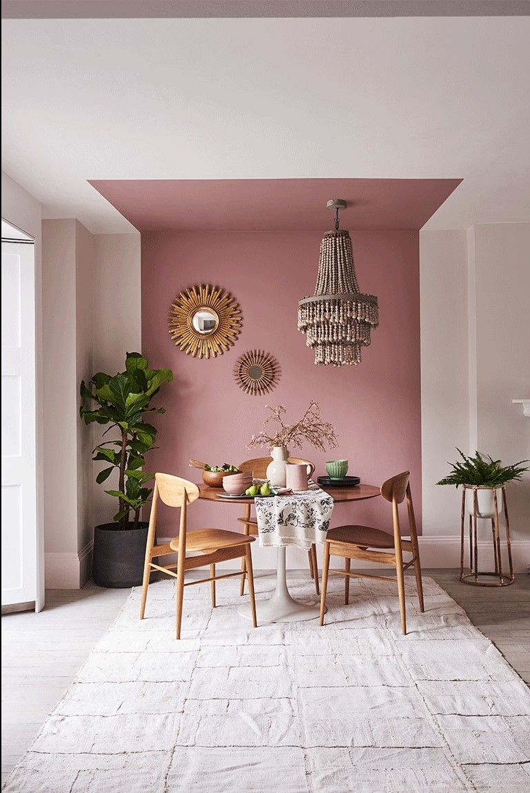 Creative ways to use paint around your home | Pink painted ceiling | Seasons in Colour Interiors Blog