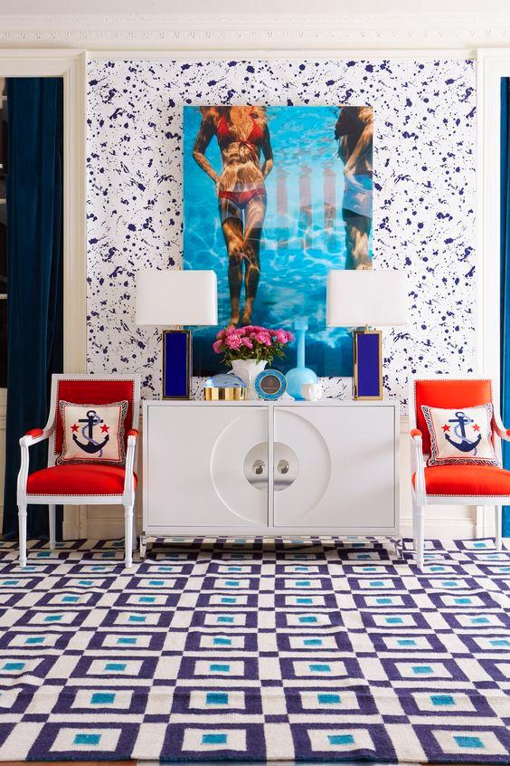 Jonathan Adlers interiors Slim Aarons eclectic