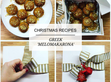 Christmas Traditions - Greek cookies 'Melomakarona'