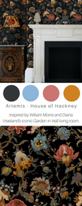 Artemis House of hackney - wallpaper floral - 15 best floral wallpapers for a moody look - how to decorate your interiors with moody floral wallpaper
