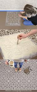 Stencilled tiles