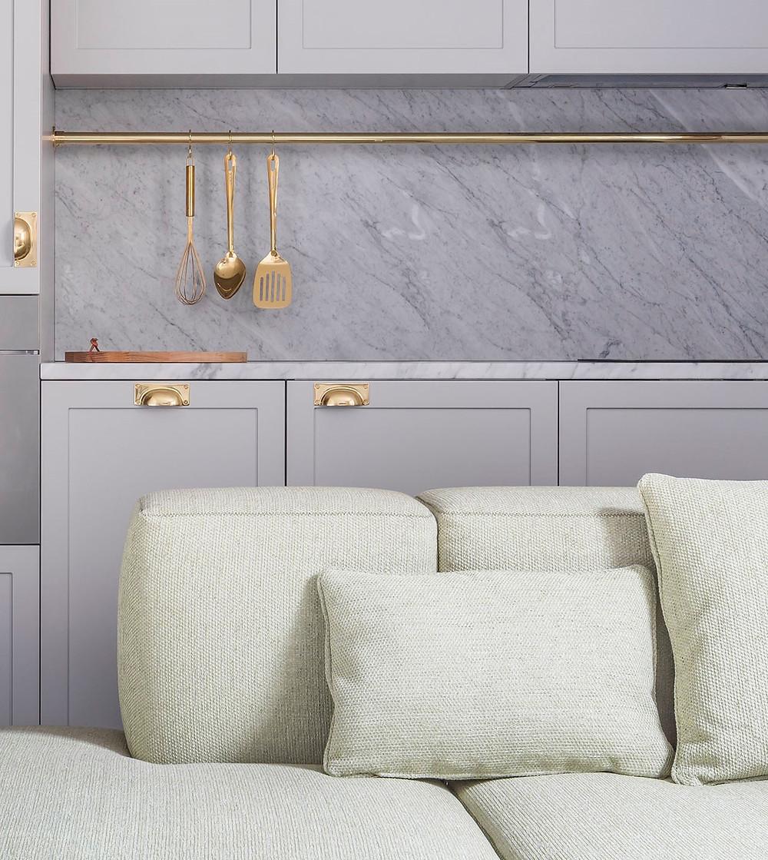 EDEN LOCKE HOTEL interior decor kitchen with pastel colours in mint