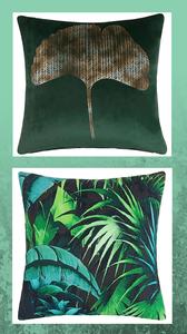 Green Addict Maison du Monde green cushions