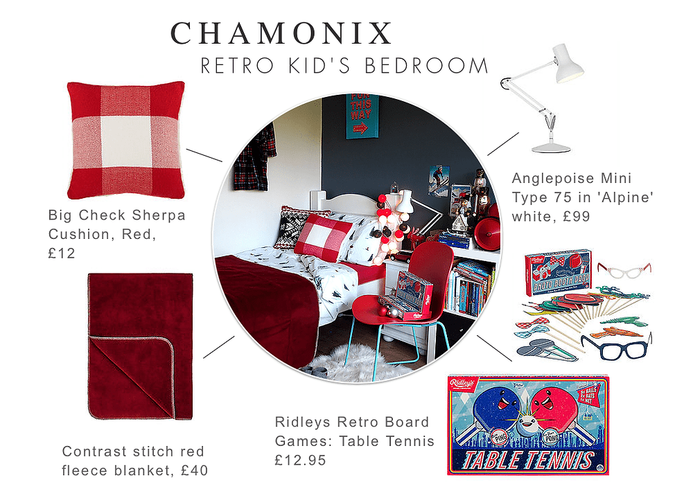 Junior Bedroom Christmas Styling Moodboard