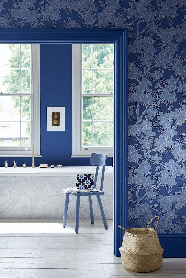 20 Bold Print Wallpapers Little Greene Camellia Smalt