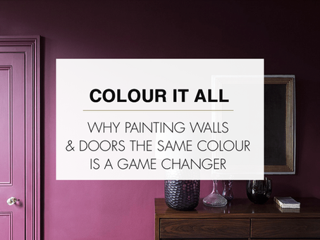 Paint walls and doors the same colour