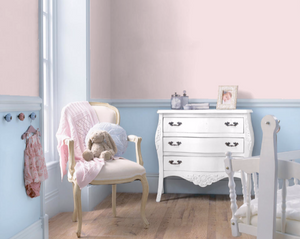 pink and blue nursery