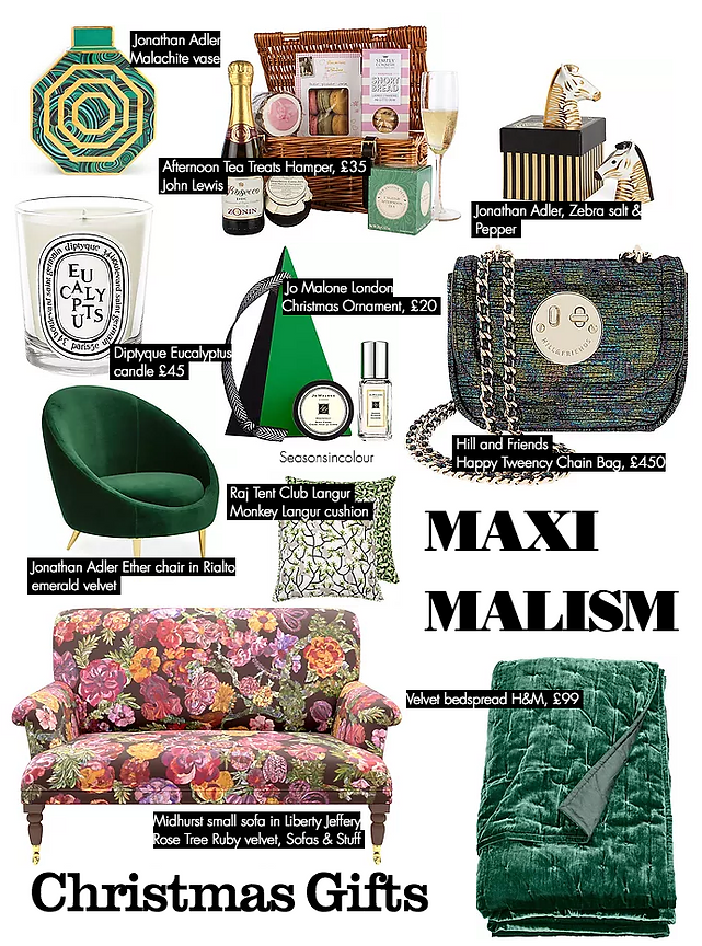 Maxmalist Gift Guide Season in Colour