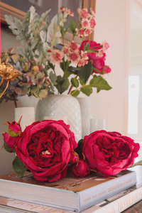 artificial flowers faux blooms from Bridgman astrantia and roses