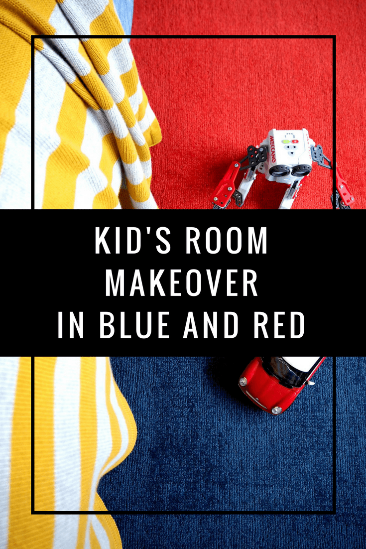 Dulux Steel Symphony 1 kids room blue red carpet