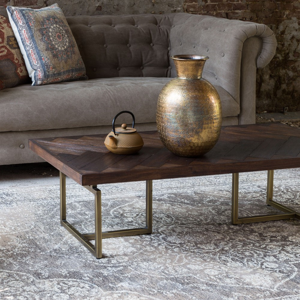 Dutchbone furnishings with Class coffee table over grey rugged rug
