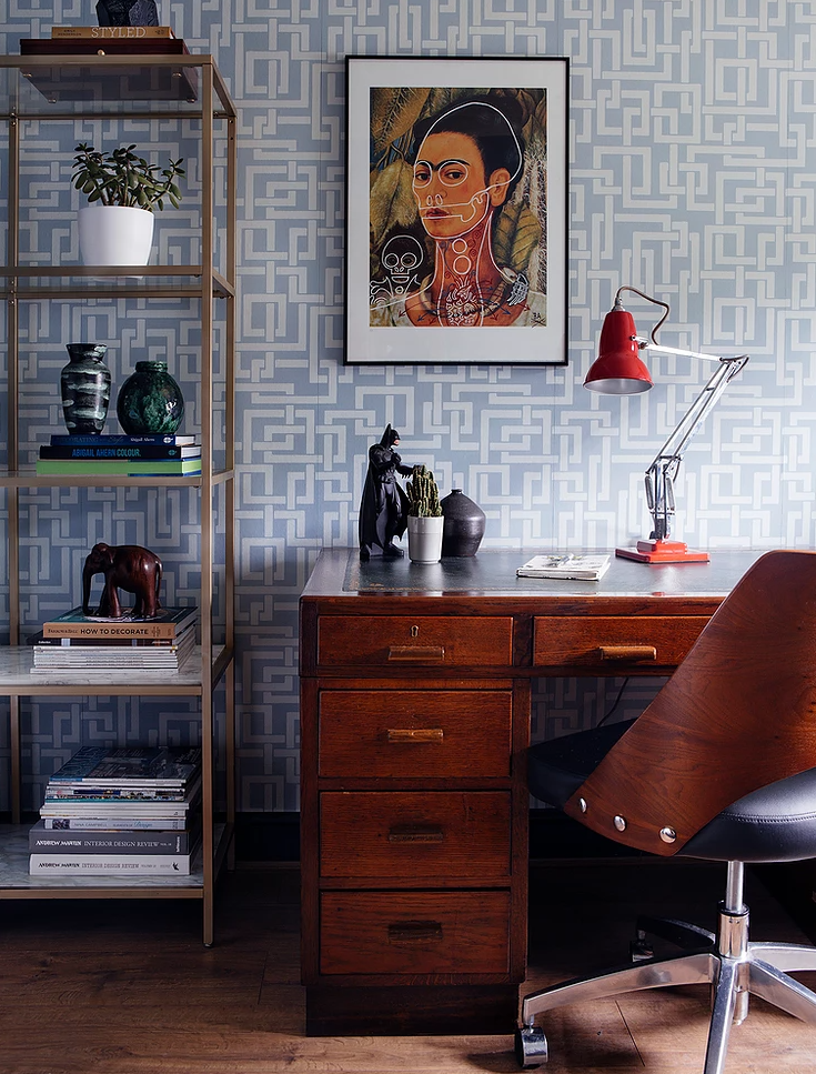 mid century office design and styling | Seasonsincolour Interiors Blog