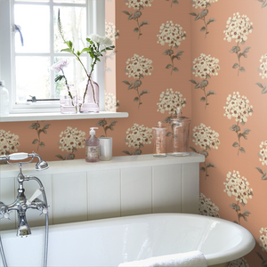 Pom Pom in burnt orange from the Sophie Conran Selections Wallpaper Collection