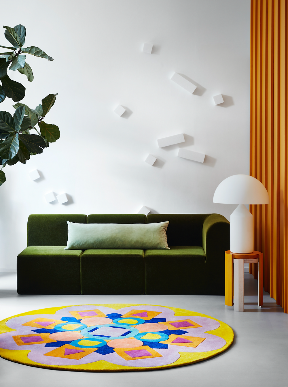 ADAM NATHANIEL FURMAN round rug for Floor Story