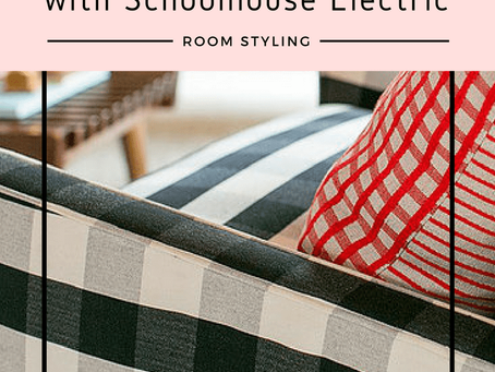 A plaid mid-century chair - Schoolhouse Electric