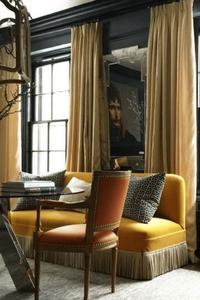 sofa with bullion fringe