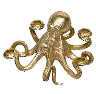Gold Octopus candle centrepiece