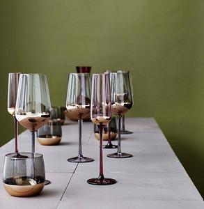 Boja Set of Four Gold Foil Champagne Flutes Oliver Bonas