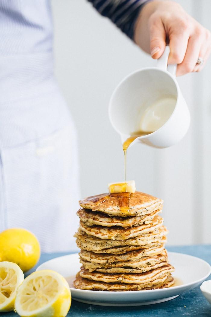 Lemon poppy gluten freePancakes - the best pancake recipes ever
