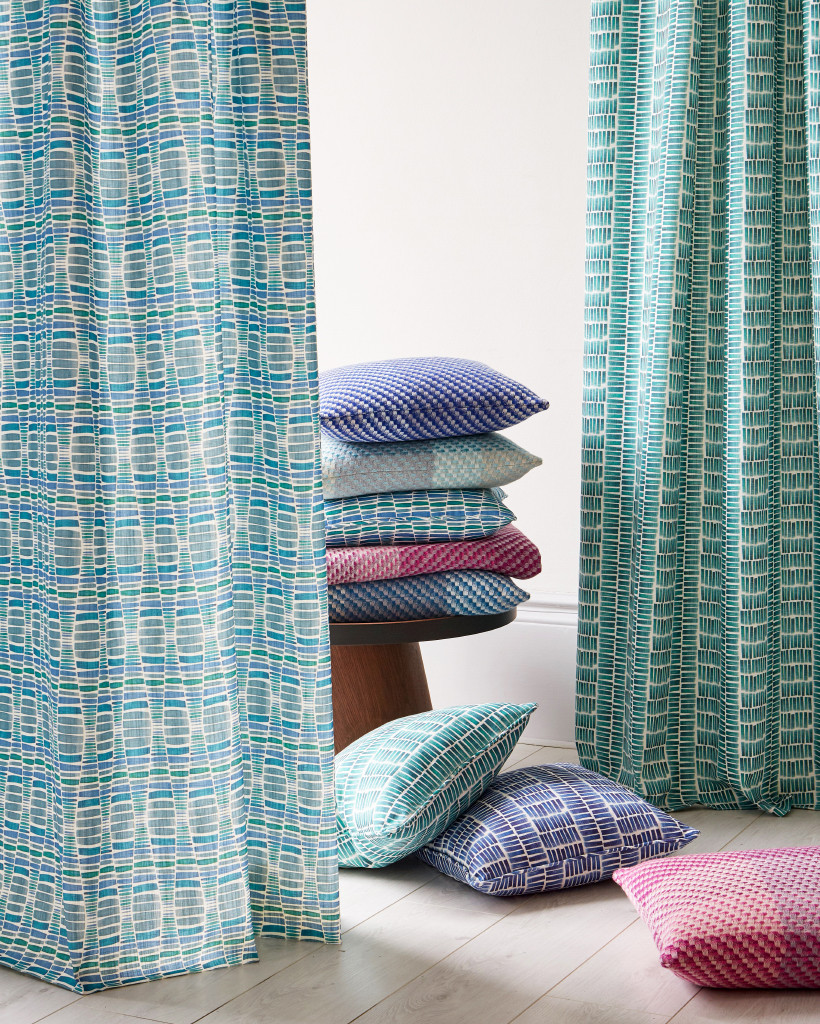 Claire Gaudion launched the Landscapes Collection - a new range of printed cotton linen interior fabrics and cushions