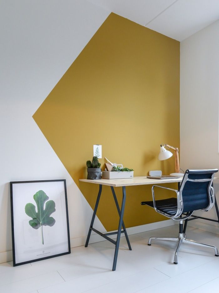 Creative ways to use paint around your home _ Painted wall in yellow colour _ Seasons in Colour Interiors Blog