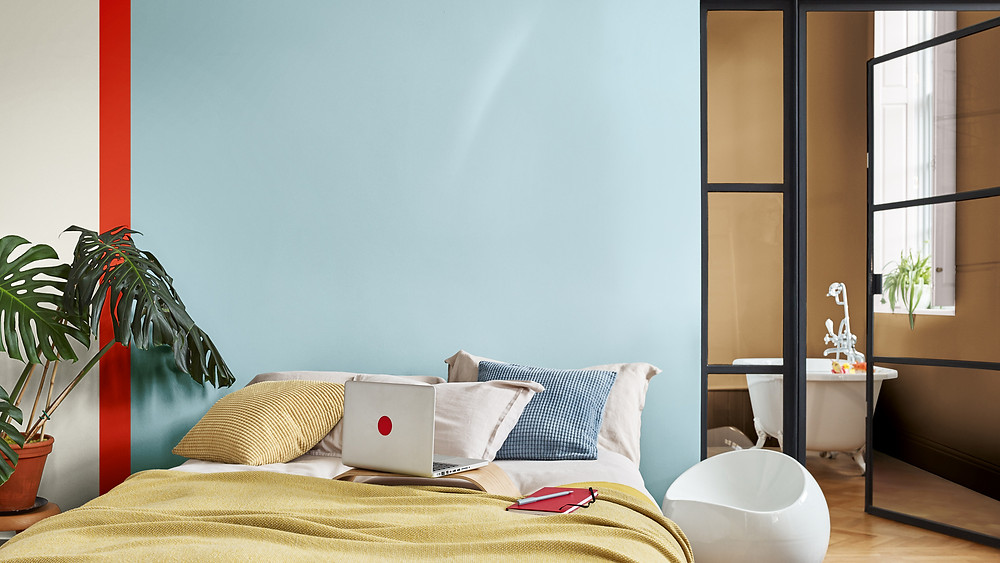 Spiced Honey Dulux colour of the year bedroom inspiration