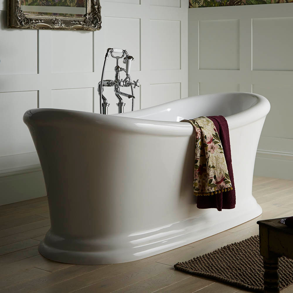 Heritage Orford Double Ended Slipper Roll Top Bath (1700x740mm), Victorian Plumbing