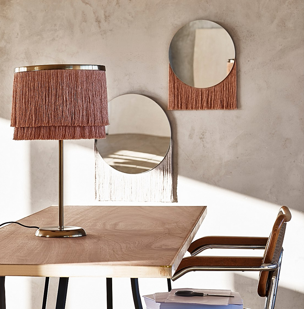 Nappa Fringed Table Lamp Oliver Bonas
