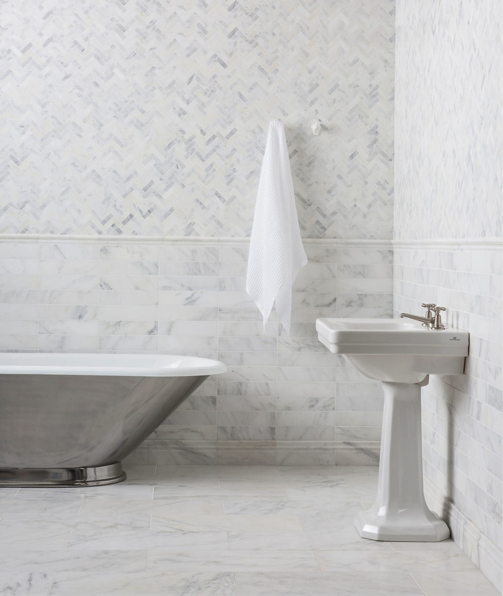 andarin Stone Alsace Honed Marble bathroom tiles