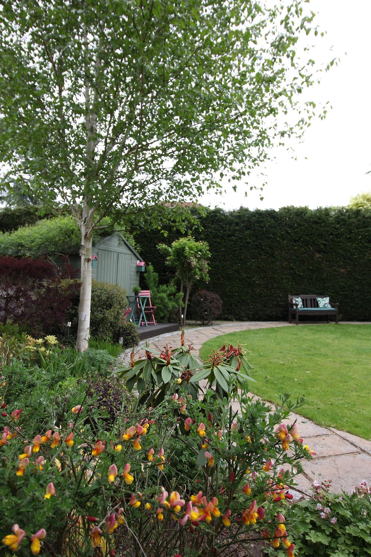 a designer garden with footpath