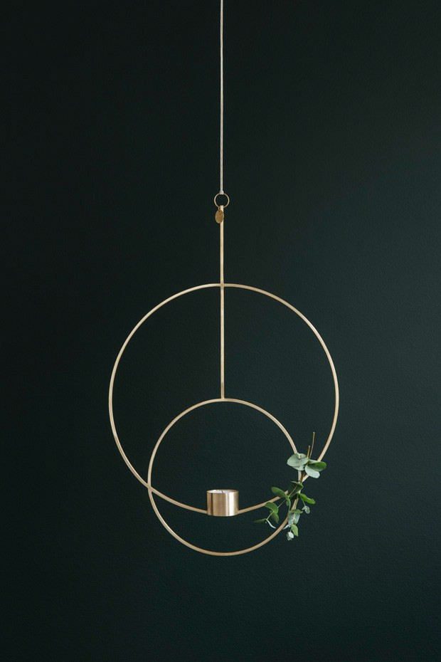 brass hanging decoration for a tealight from Ferm Living