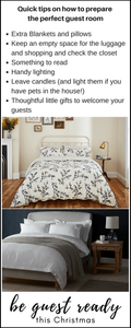 Extra quick tips on how to provide the perfect guest room