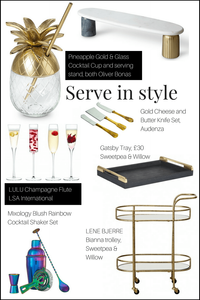 serveware for a New year's Eve party