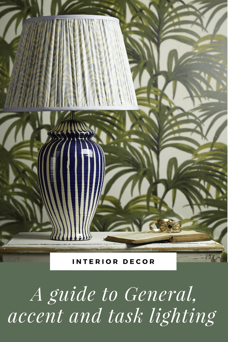Pooky ceramic table lamp regular lottie table lamp with a cobalt blue and stone glaze palm wallpaper eclectic