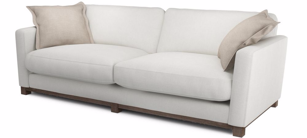 Cream sofa CHALK from DFS with limed oak plinth base