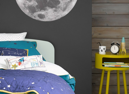 Styling a kids room with a space theme