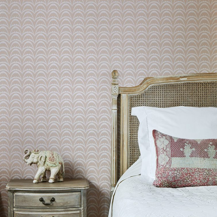 Barneby Gates Arcade wallpaper in Pastel Pink