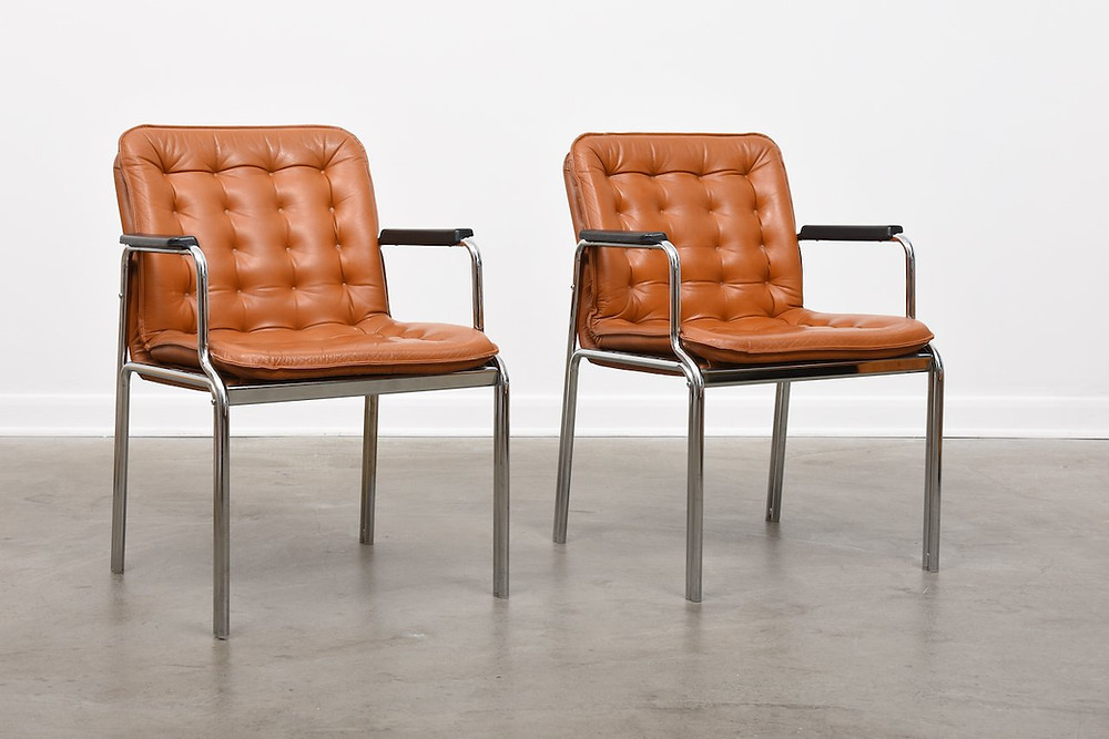 1960s armchairs by Kinnarps | mid century office design and styling | Seasonsincolour Interiors Blog