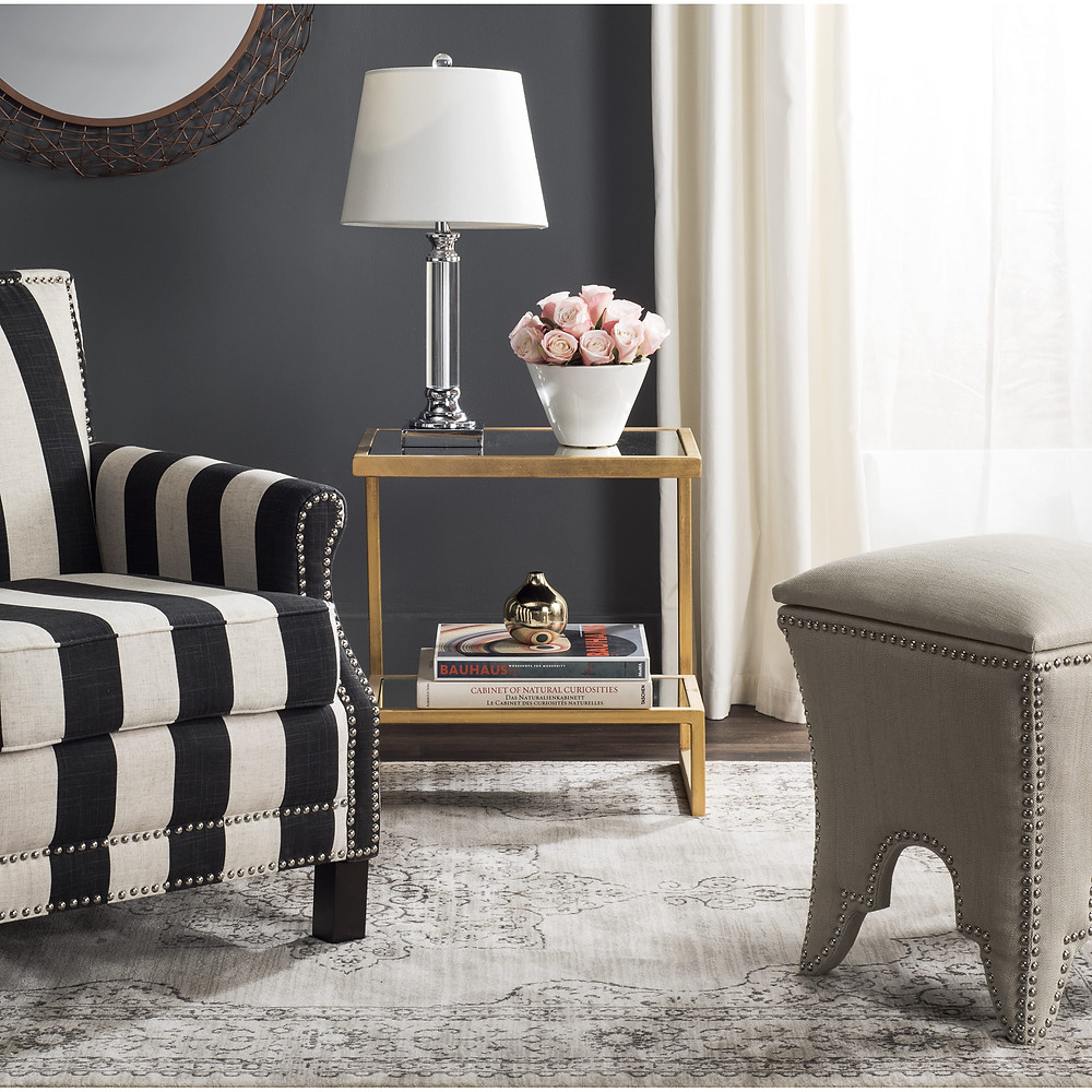 Safavieh Milton Side table gold styling