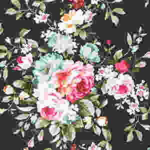 Emeline Clarke & Clarke wallpaper floral - 15 best floral wallpapers for a moody look - how to decorate your interiors with moody floral wallpaper