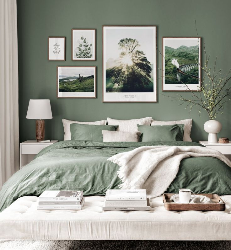 Best bedroom colors to use to aid sleep and relaxation _ Seasonsincolour interiors ideas and tips _ Green color psychology