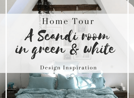 A Scandi home in Green and White
