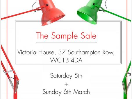Design Calendar - The Sample Sale