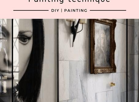 DIY - Faux Marble walls