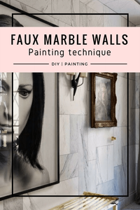 How to paint a wall in the faux marble effect, interiors ideas