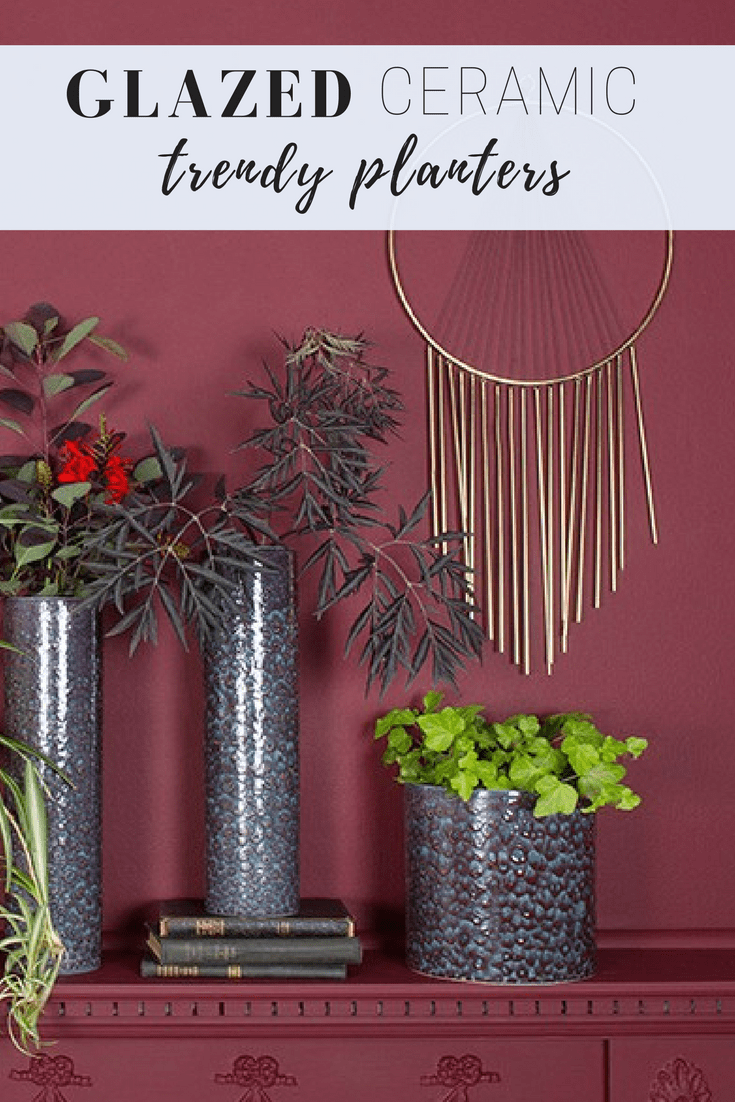 How to decorate with plant pots,glazed plant pot