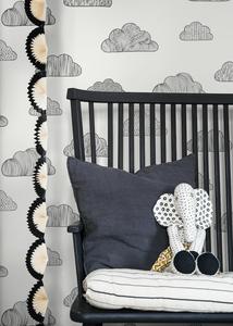 Borastapeter Claudia in Black and White wallpaper kids room