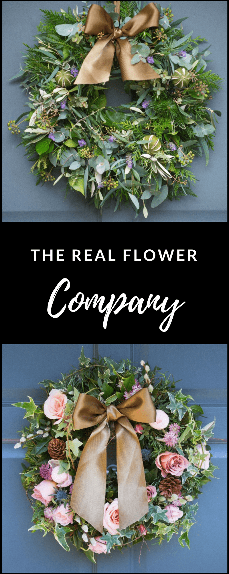 The real Flower Company Christmas Wreaths