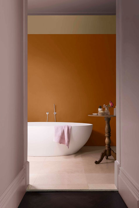 Dulux Colour of the year Heart Wood bathroom walls