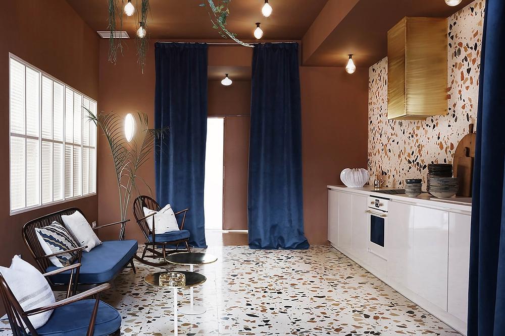 terrazzo Marmoreal White tiles, 60 x 60 x 2 cm, honed finish dzek.com